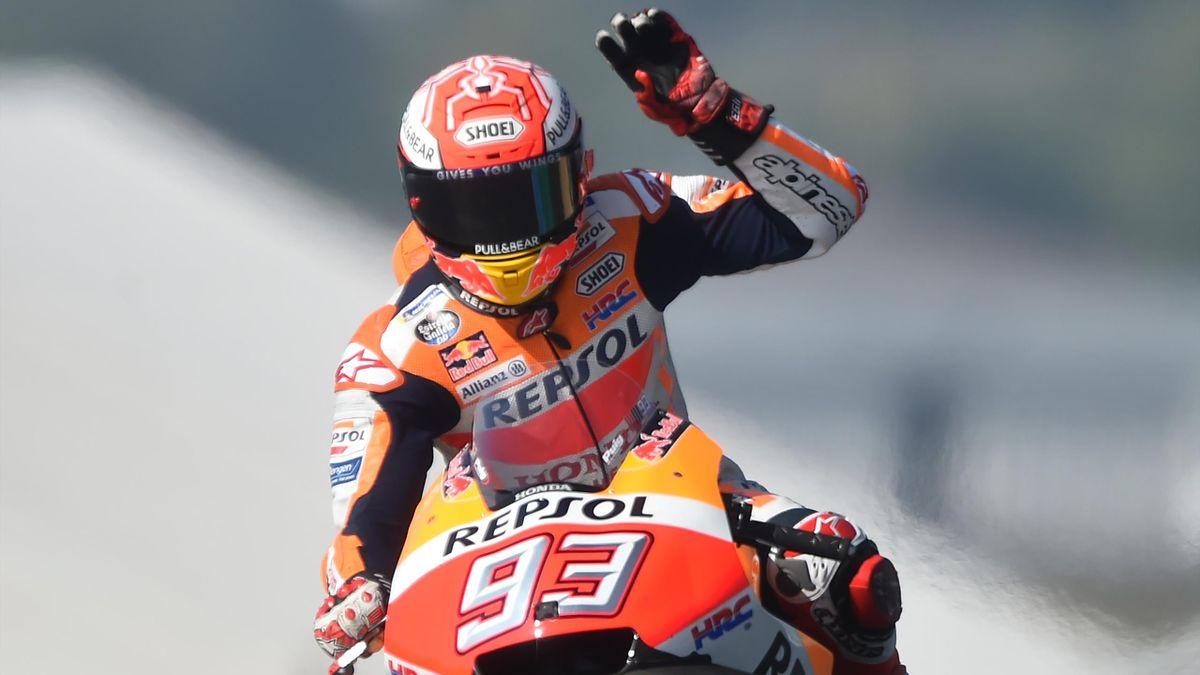 Marc Marquez (Honda) au Mans.