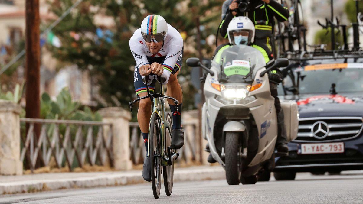 Filippo Ganna a câștigat contratimpul individual din etapa inaugurală a Giro 2020