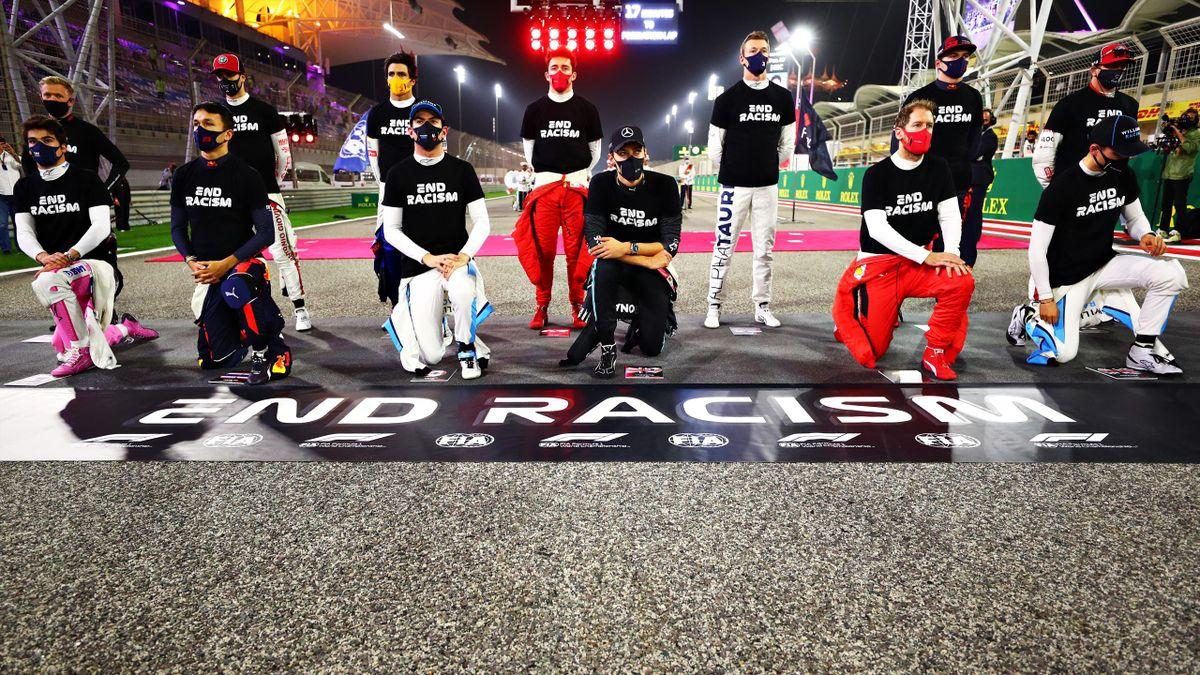 Die Formel-1-Fahrer setzen ein Zeichen gegen den Rassismus