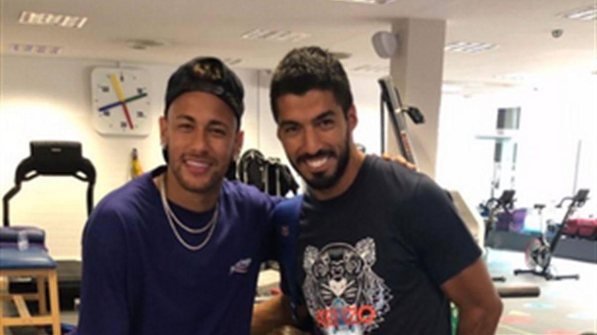 Neymar und Luis Suárez
