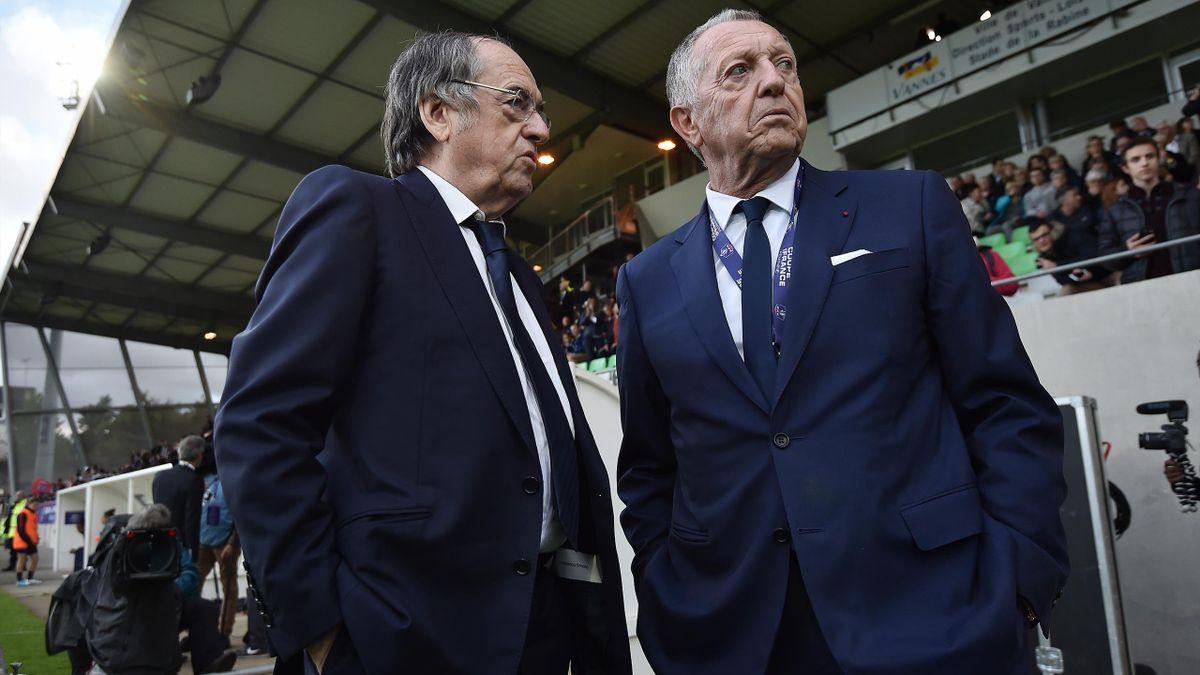 Noël Le Graët (FFF) et Jean-Michel Aulas (OL)