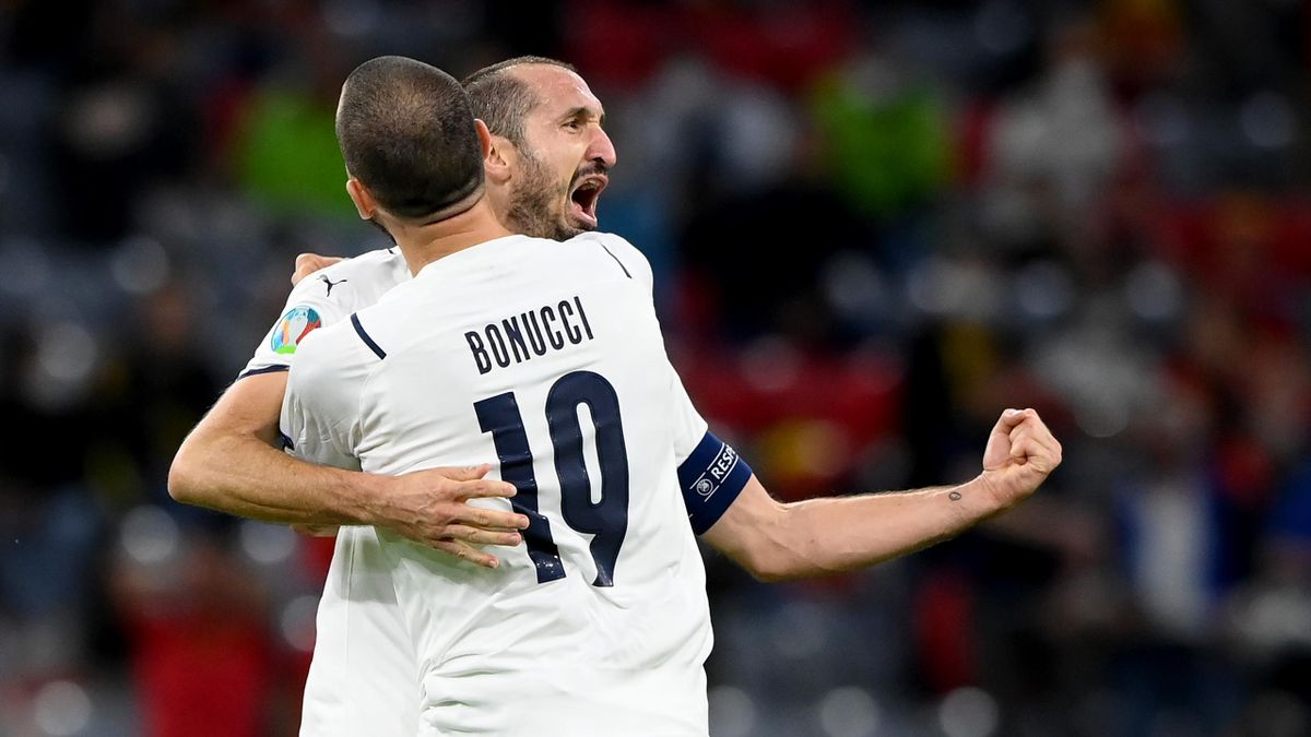 Giorgio Chiellini și Leonardo Bonucci au făcut un meci excelent contra Belgiei