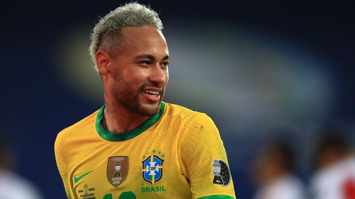 Neymar im Spiel zwischen Brasilien und Peru