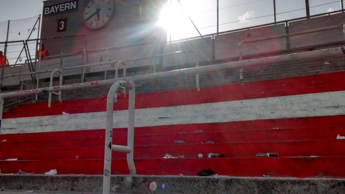 Bayern-Fans bemalen Grünwalder Stadion