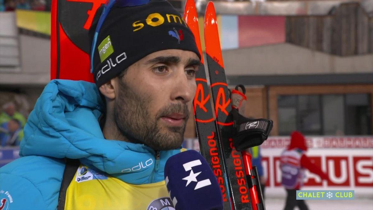 Biathlon Antholz - Martin Fourcade interview (FR)
