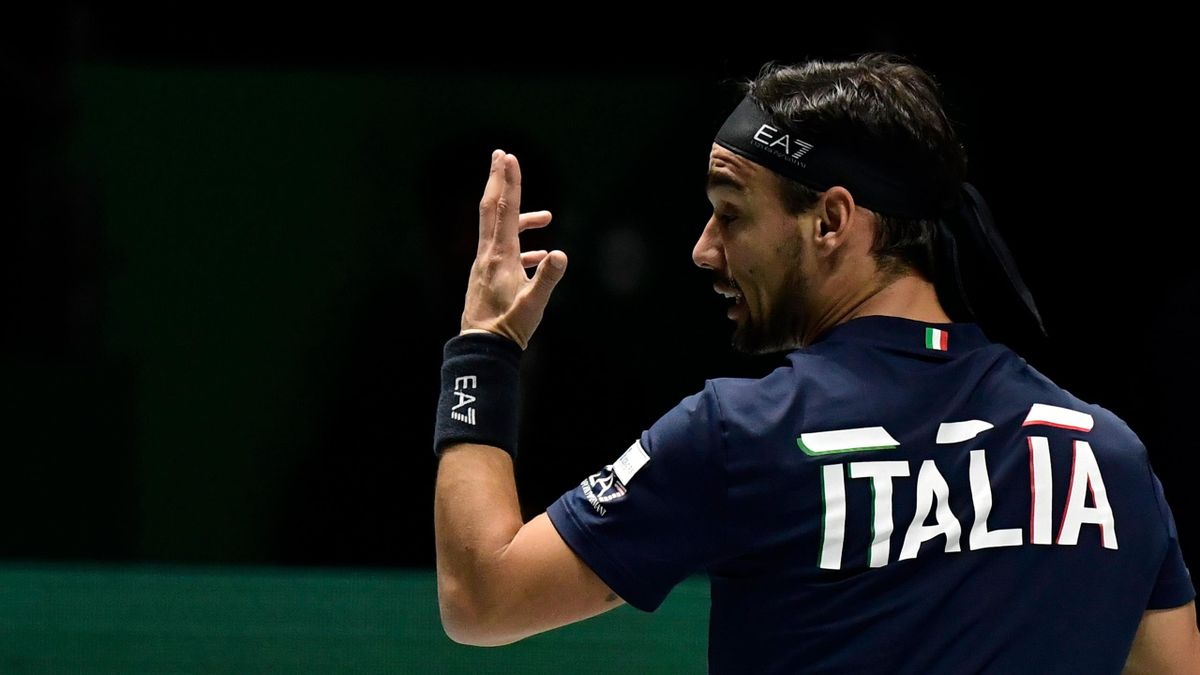 Fabio Fognini alla Coppa Davis 2019 a Madrid