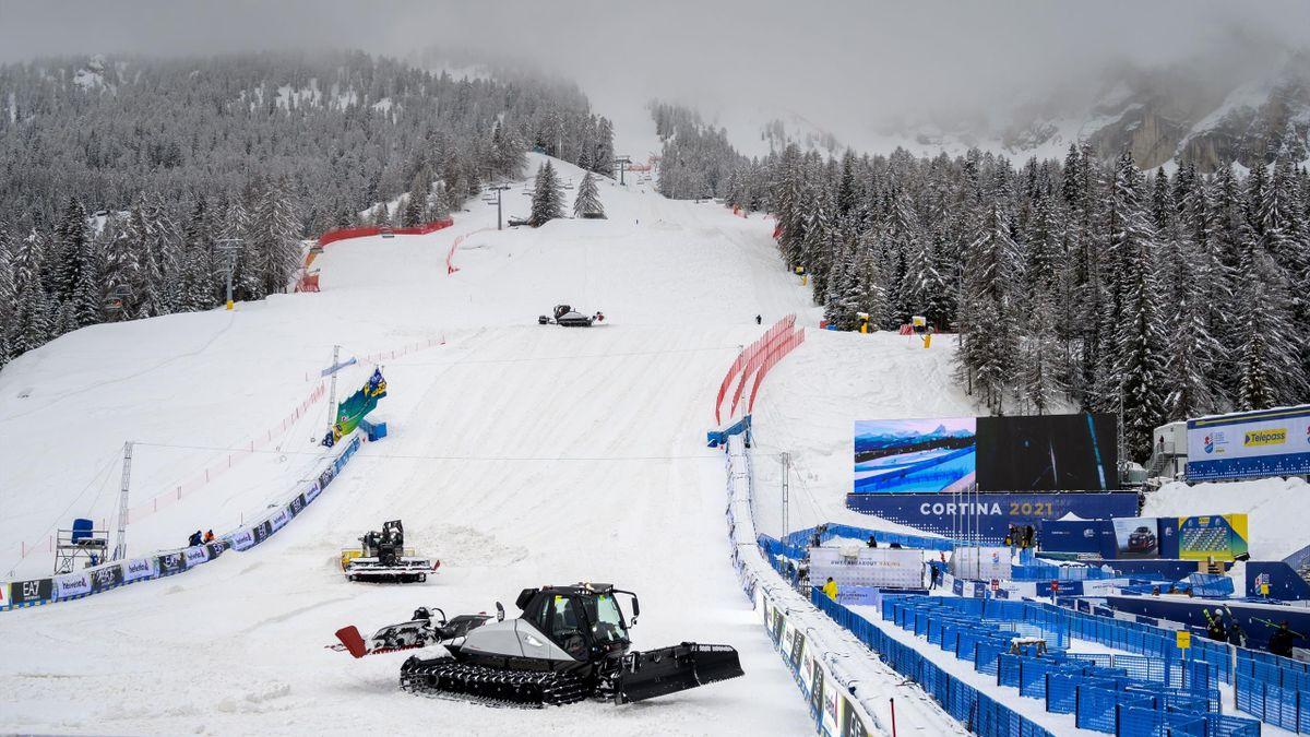 La station de Cortina d'Ampezzo le dimanche 7 février 2021