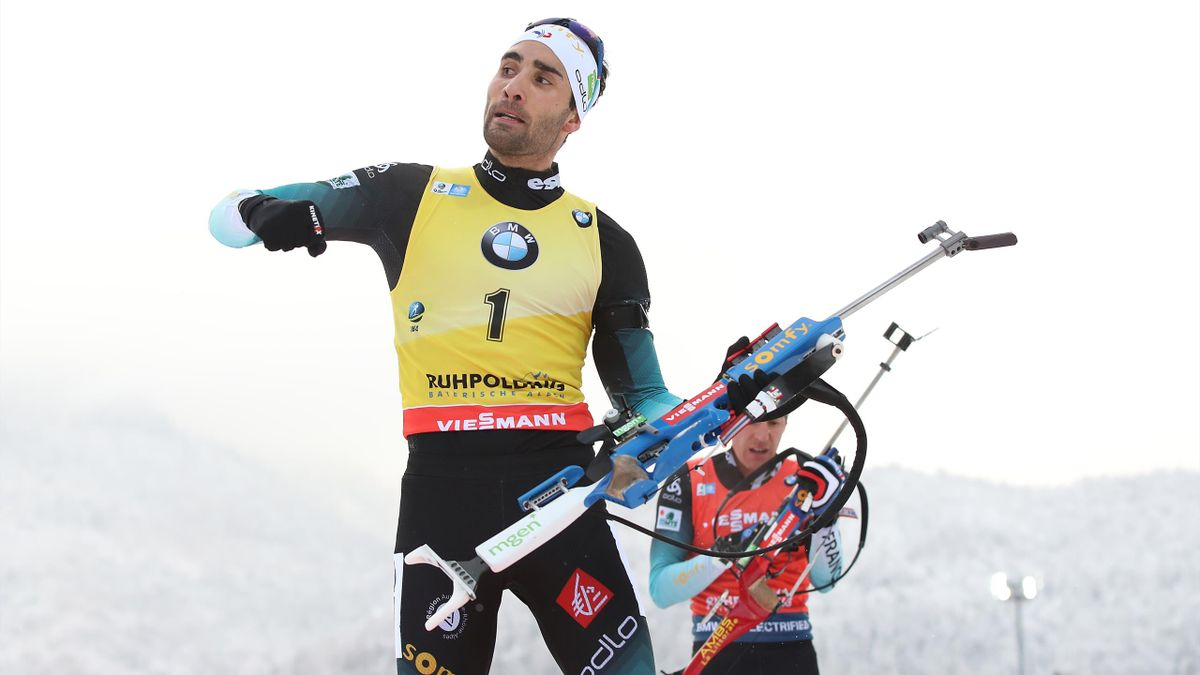 Martin Fourcade au tir à Ruhpolding (janvier 2020)