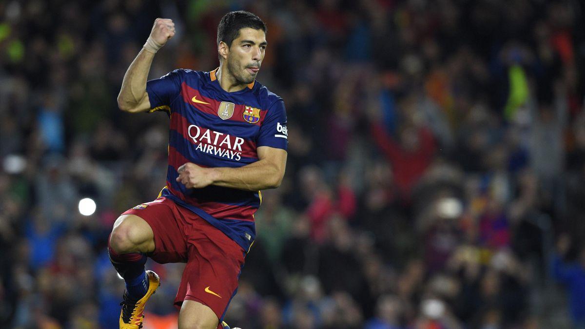 Luis Suárez, en el Barcelona-Sporting