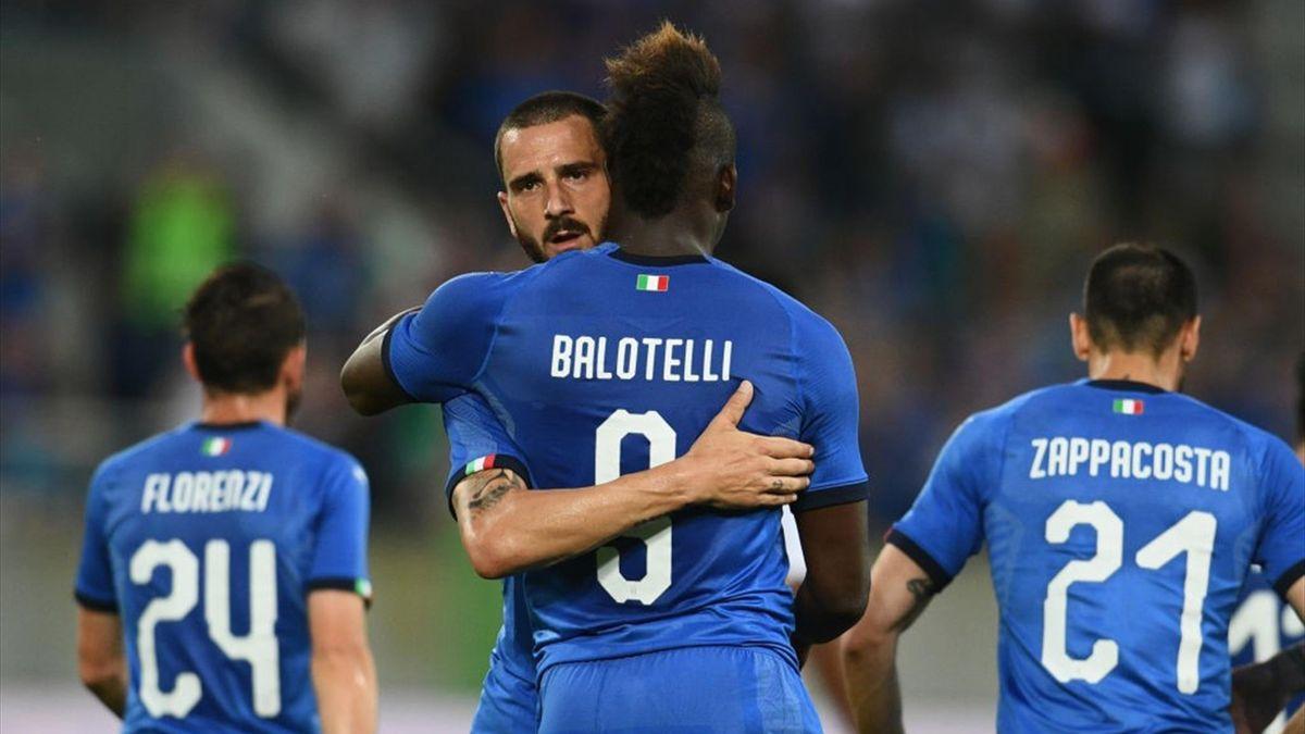 Mario Balotelli, Bonucci - Italia-Arabia Saudita - International friendly match 2018 - Getty Images