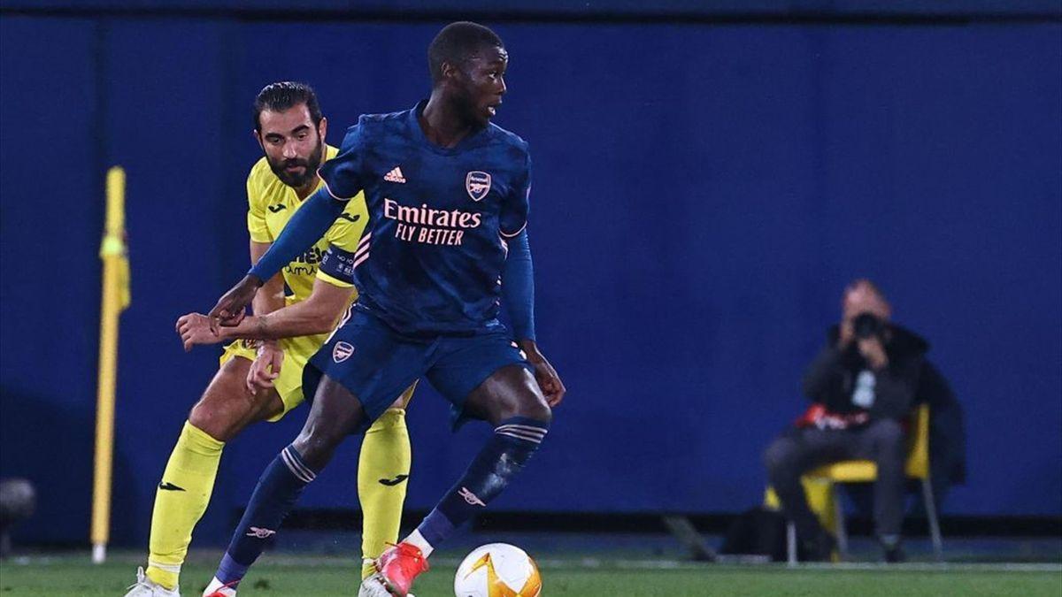 Nicolas Pépé vom FC Arsenal im Spiel beim FC Villarreal