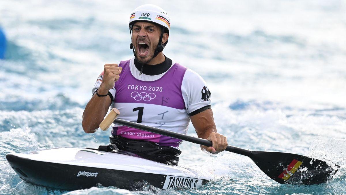 Sideris Tasiadis hat im Kanu-Slalom Bronze gewonnen