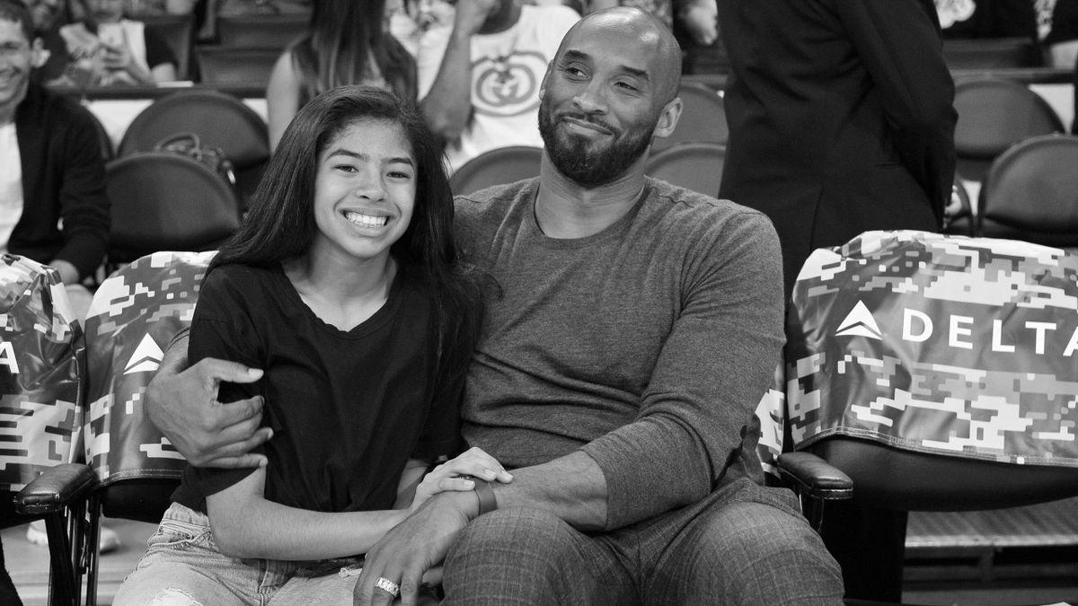 Kobe Bryant mit seiner Tochter Gianna im November 2019