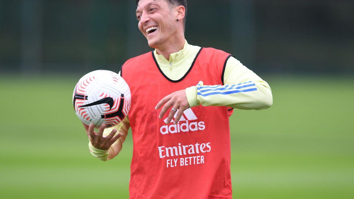 Mesut Ozil while at Arsenal