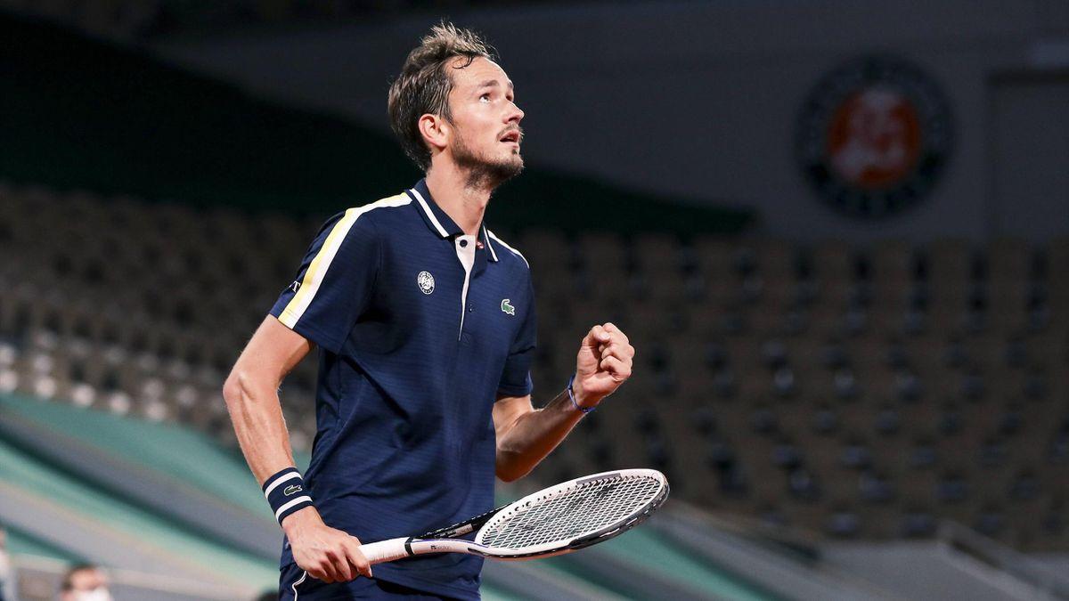 Daniil Medvedev bei den French Open.