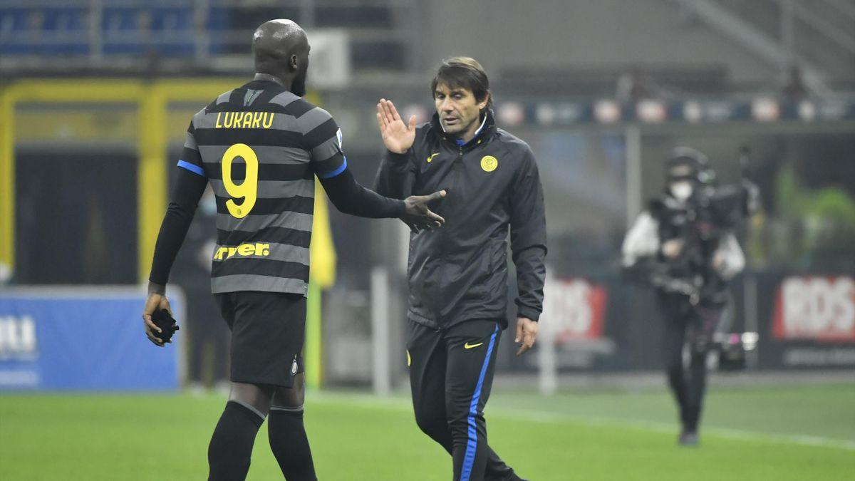 Romelu Lukaku e Antonio Conte
