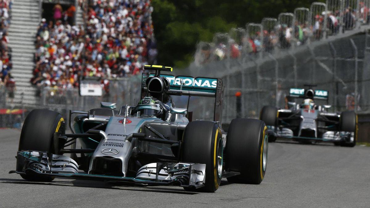 Nico Rosberg im Einsatz in Montréal