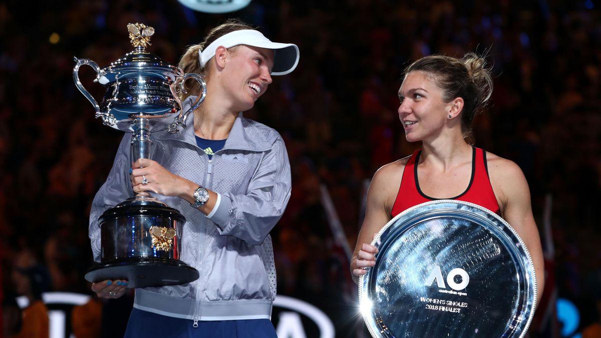 Caroline Wozniacki, Simona Halep - Australian Open 2018