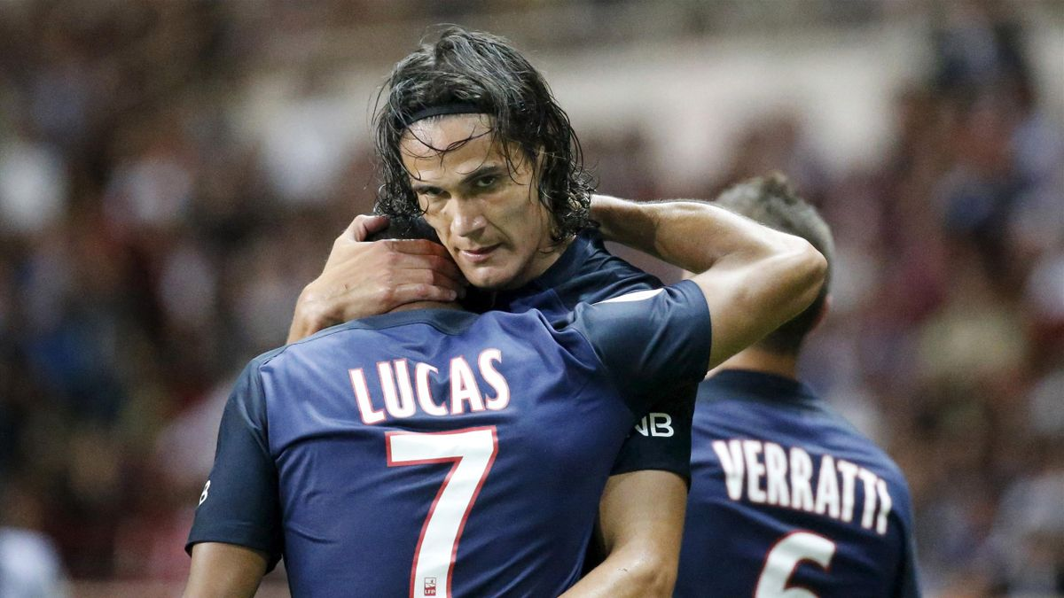 Edinson Cavani Scores And Angel Di Maria Impresses As Paris Saint Germain Thump Monaco Eurosport