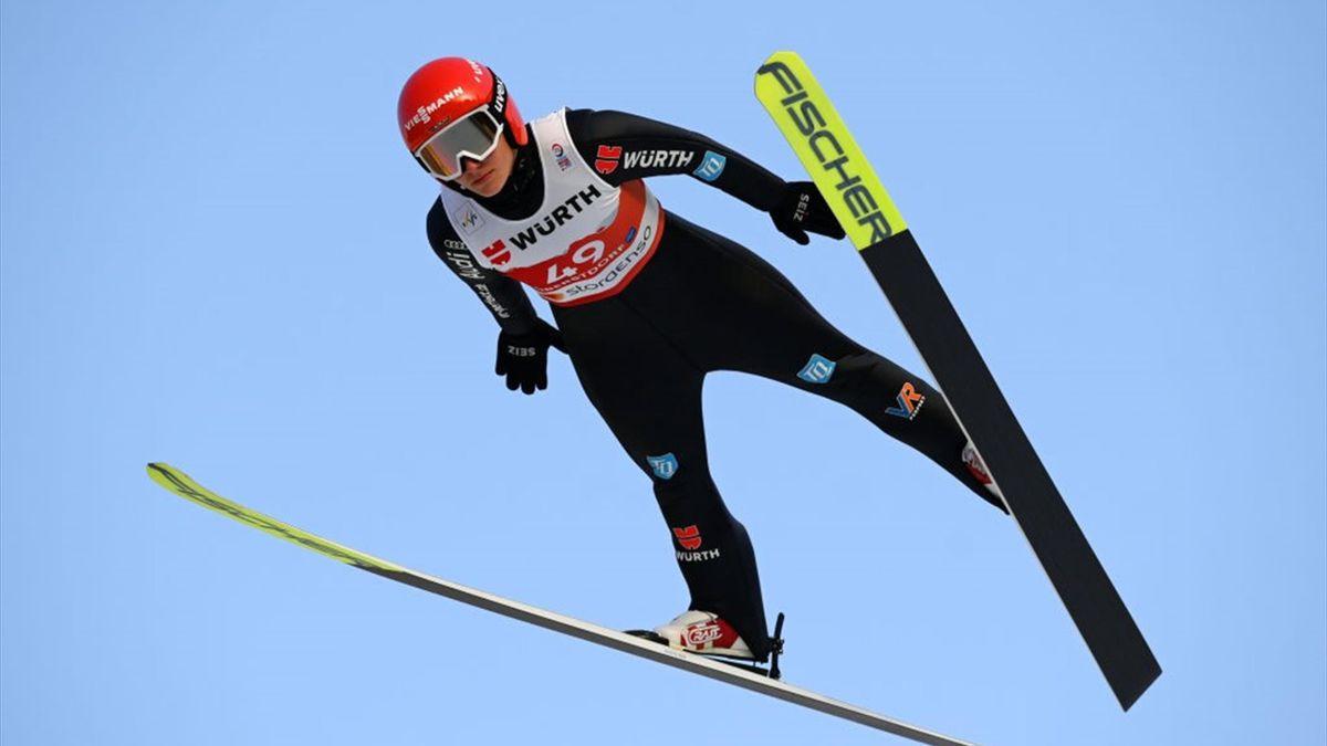 Katharina Althaus bei der WM in Oberstdorf