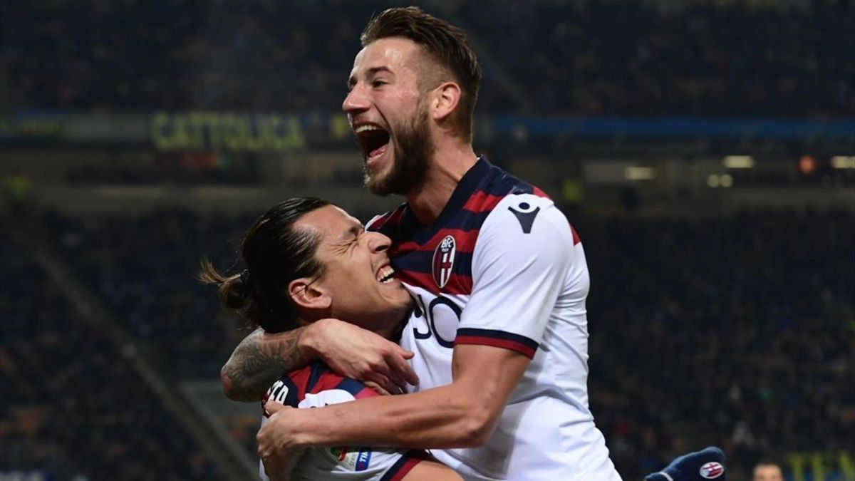 Dijks, Santander - Inter-Bologna - Serie A 2018/2019 - Getty Images