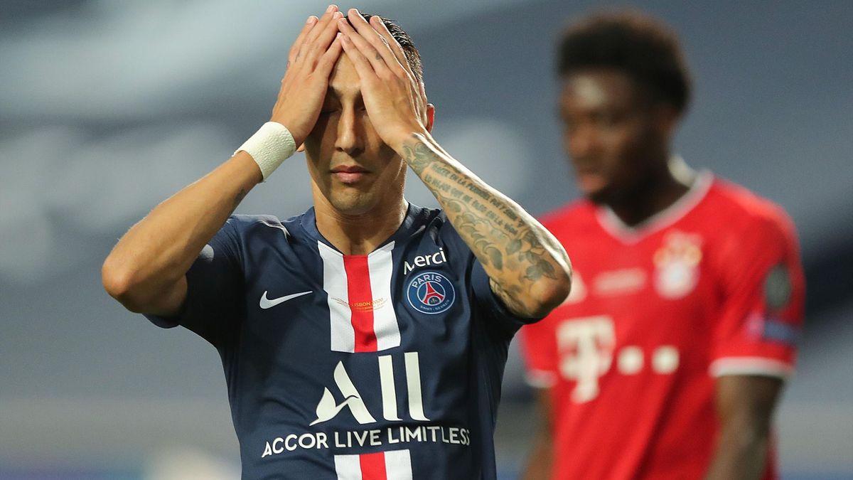 Angel Di Maria (PSG) lors de la finale de Ligue des champions contre le Bayern Munich.