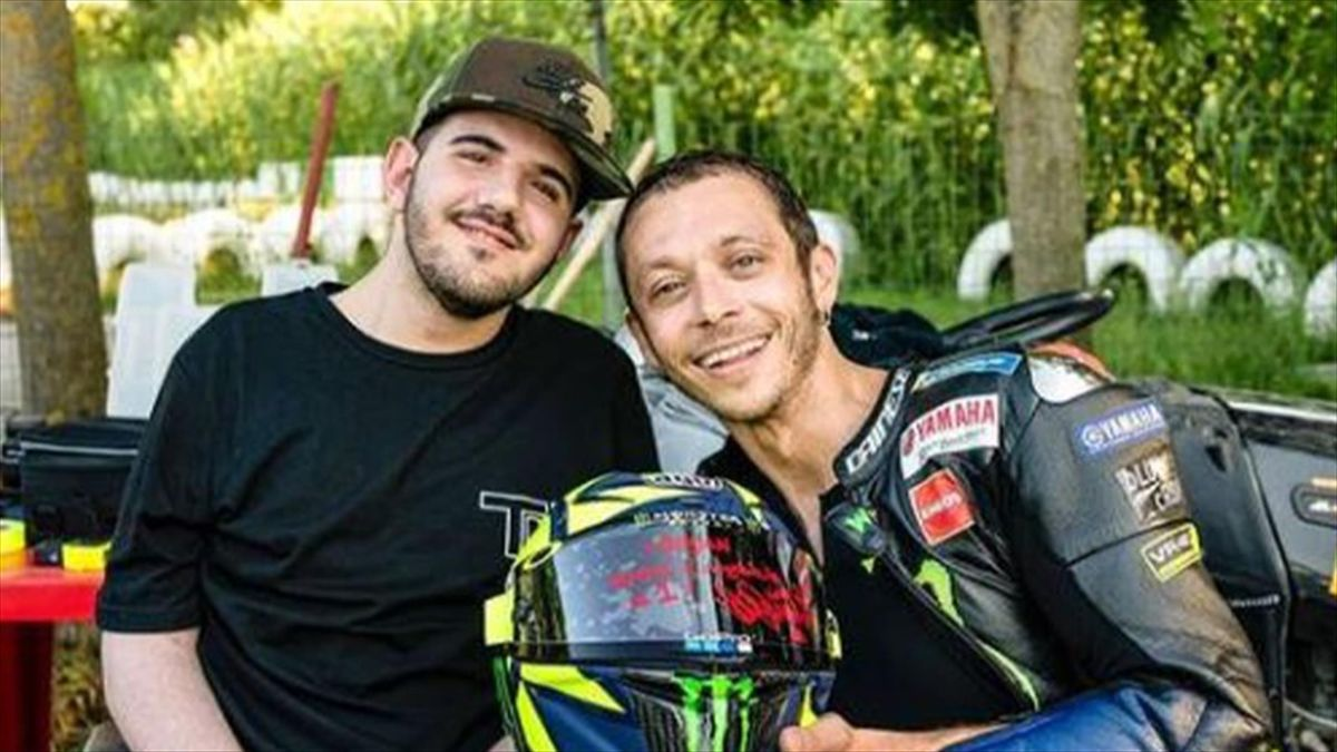 Bryan Toccaceli con Valentino Rossi