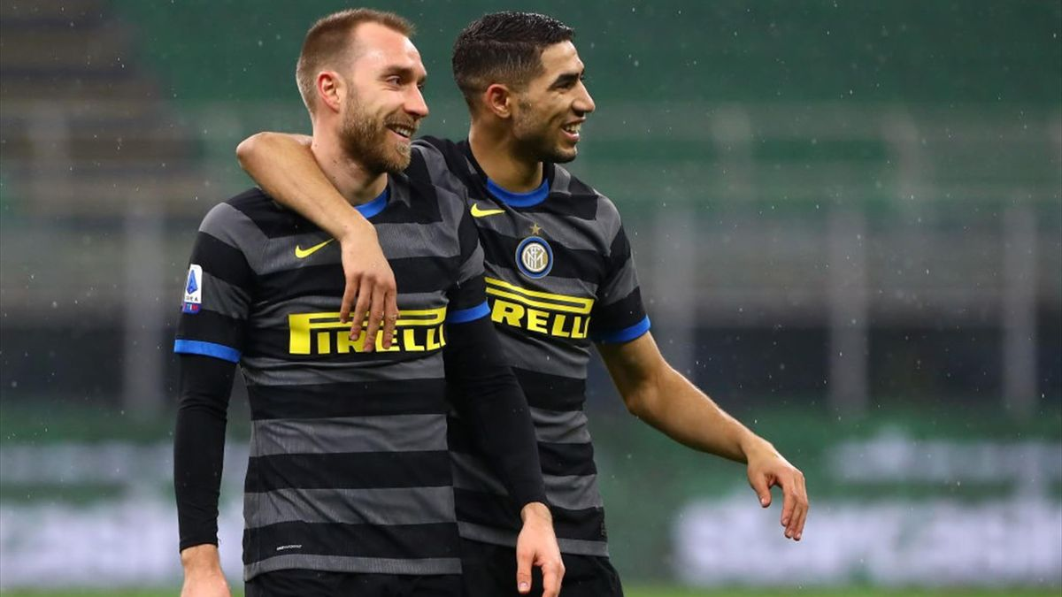 Eriksen e Hakimi - Inter-Benevento - Serie A 2020-2021