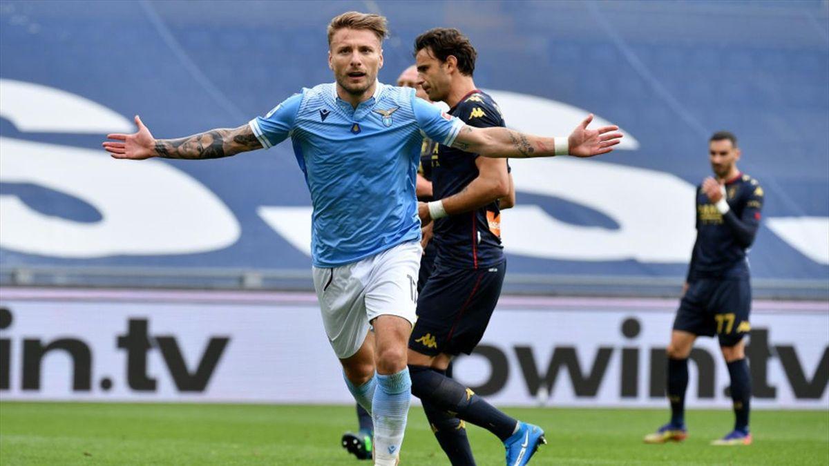 Ciro Immobile esulta - Lazio-Genoa Serie A 2020-21