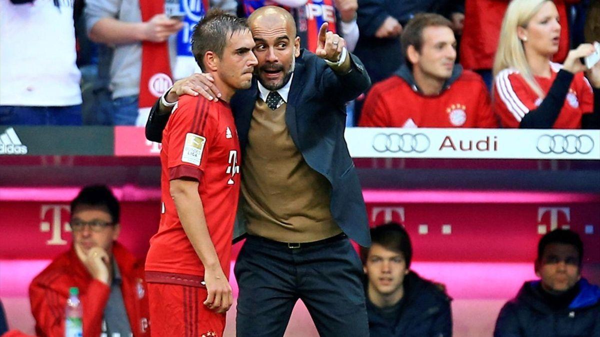 Pep Guardiola und Philipp Lahm