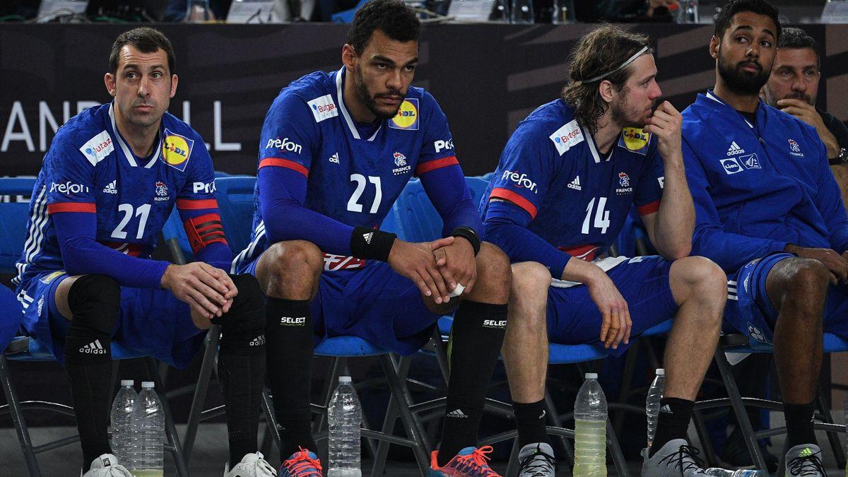 Après un début de Mondial emballant, la France de Guigou, Dipanda, Mahé et Richardson (de gauche à droite) est retombée dans ses travers sur la fin