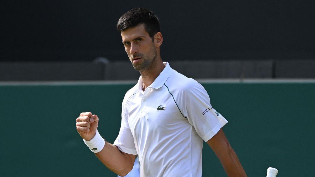 Novak Djokovic a Wimbledon 2021