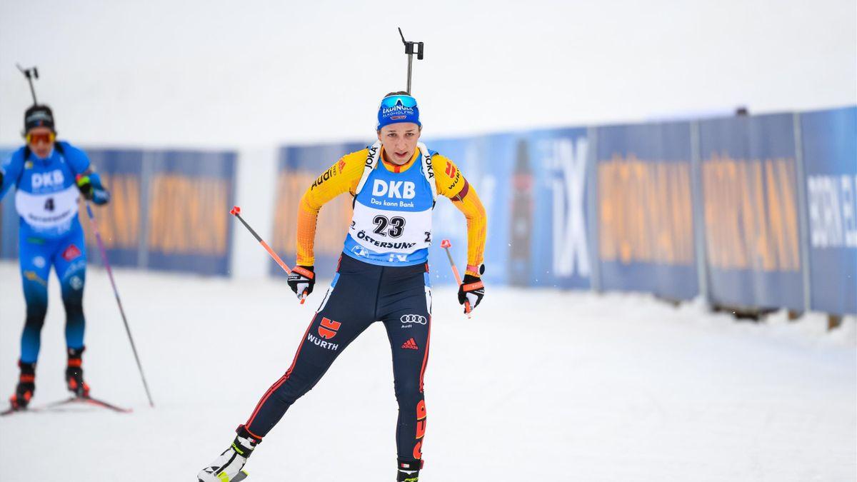 Franziska Preuß beim Weltcup-Finale in Östersund 2021