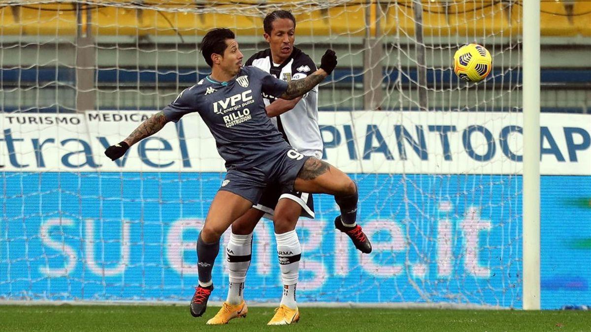 Bruno Alves e Lapadula - Parma-Benevento - Serie A 2020-2021
