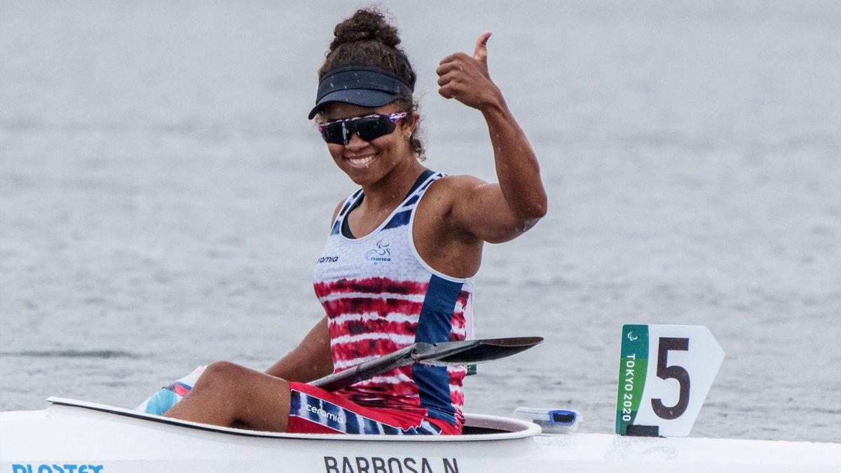Nélia Barbosa, médaillée d'argent à Tokyo en canoë