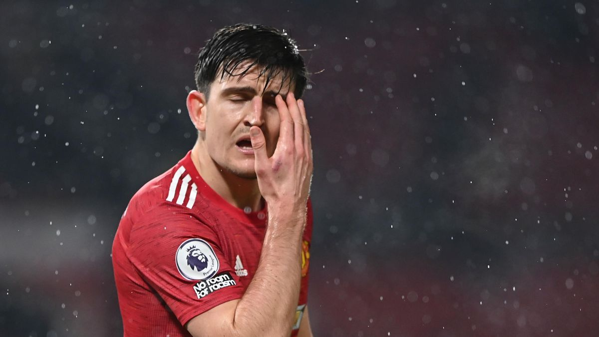 Manchester United's English defender Harry Maguire