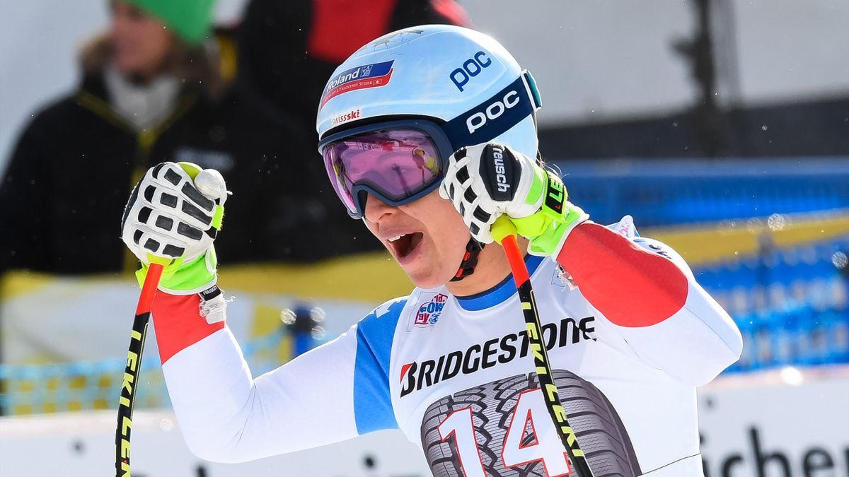 Jasmine Flury lors du super-G à Saint-Moritz le 9 décembre 2017