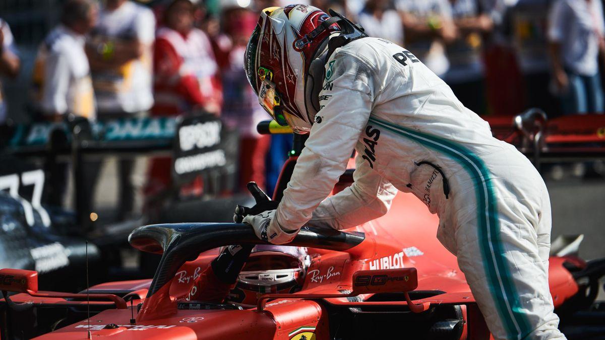 Charles Leclerc (Ferrari), Lewis Hamilton (Mercedes) - GP of Italy 2019