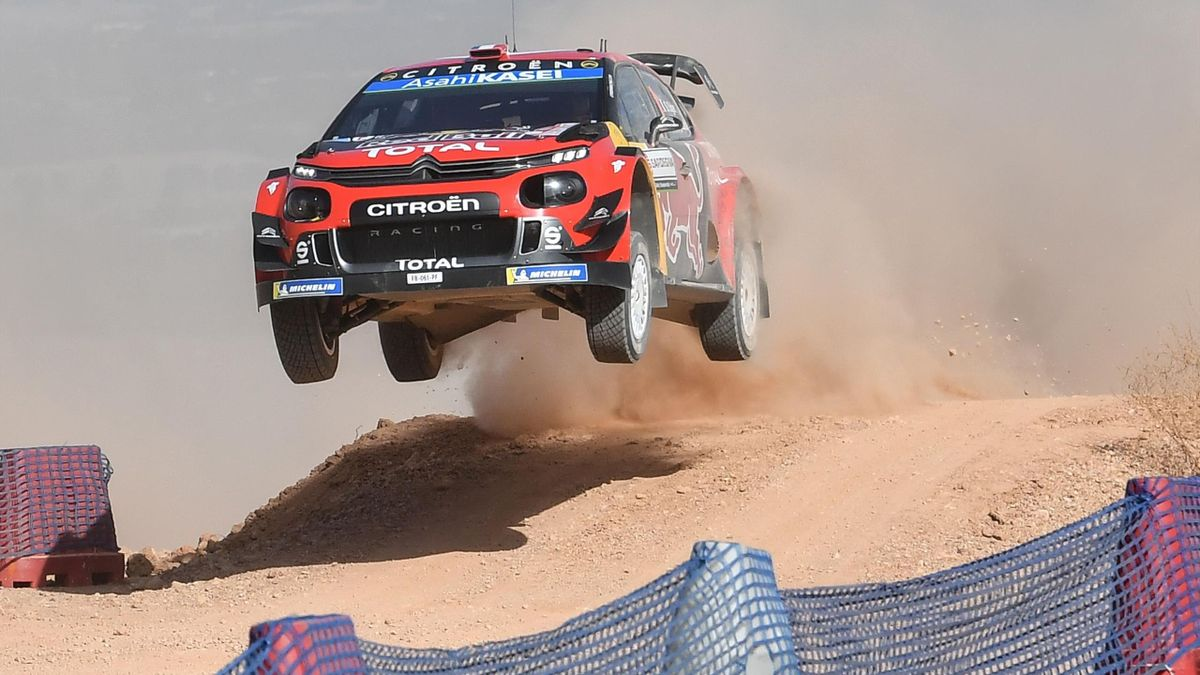 Sebastien Ogier (Citroen C3 WRC) au Rallye d'Italie, 2019