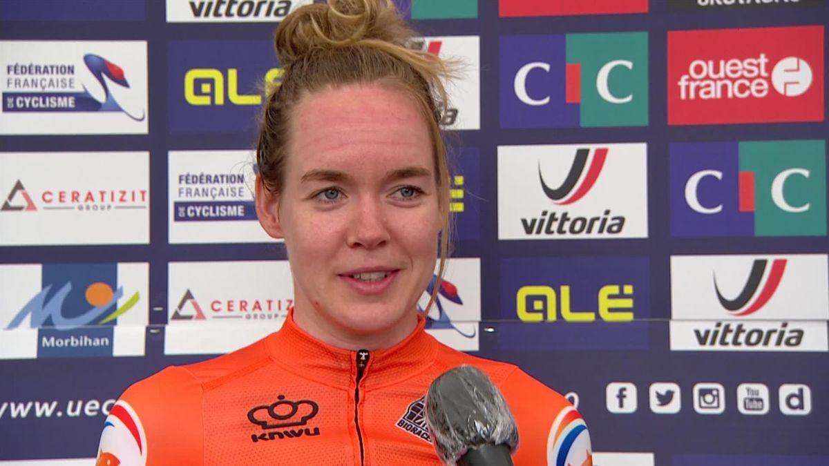 Cycling EUropean Championships: Interview of winner Anna Van Der Breggen