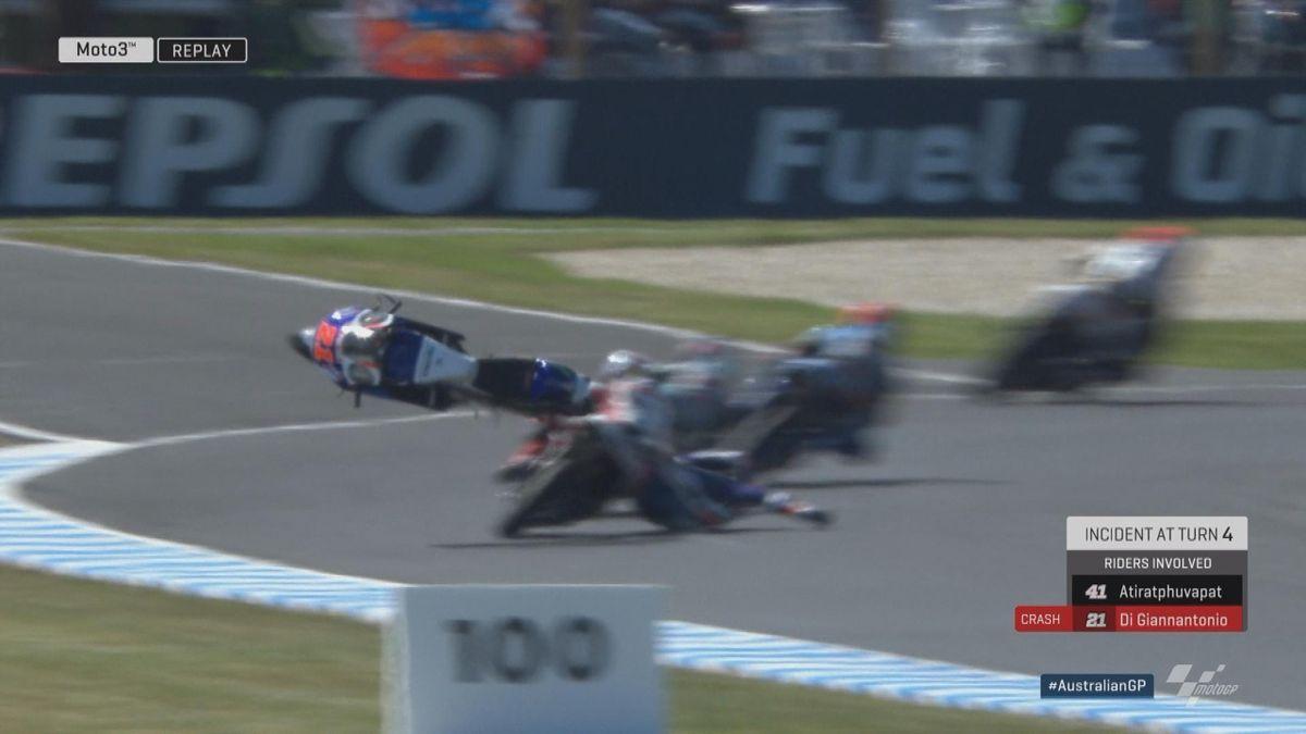 Australian GP - Moto3 - FP2 Crash Digianntonio