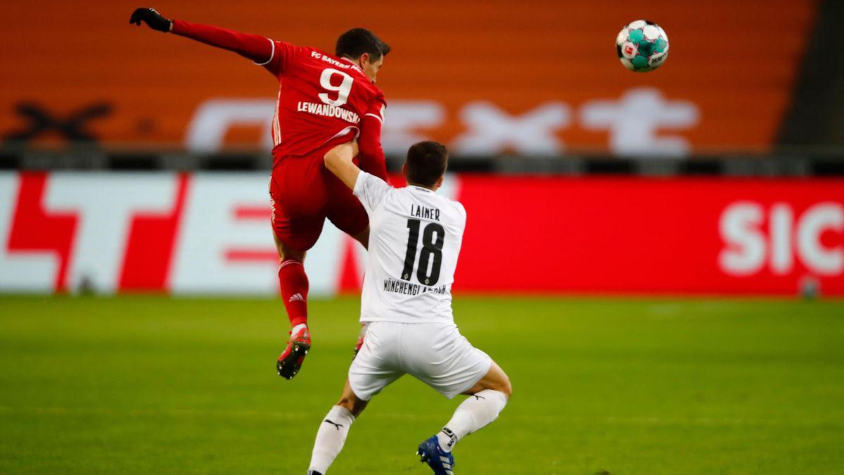 Robert Lewandowski e Lainer, Borussia-Bayern Monaco