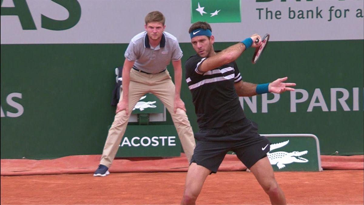French open highlights : INTERRUPTED Cilic v Del Potro
