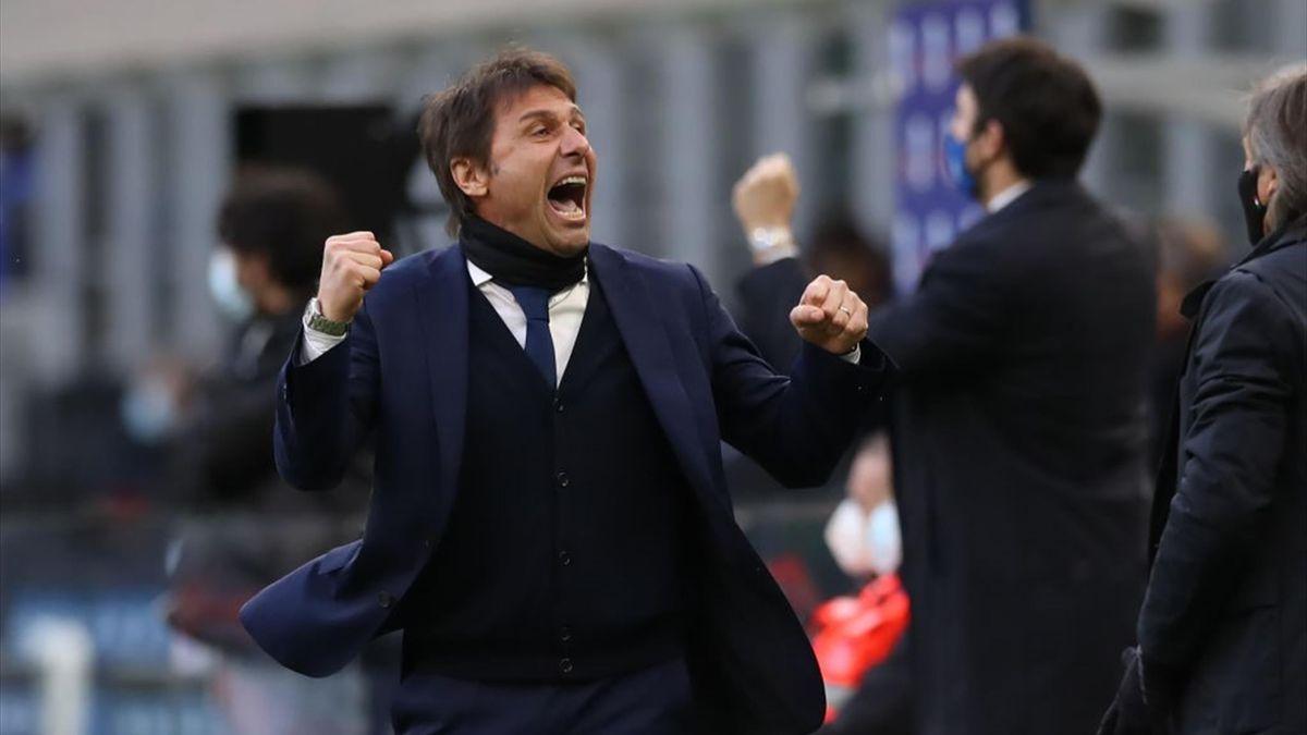 Antonio Conte - Inter-Genoa Serie A 2020-21