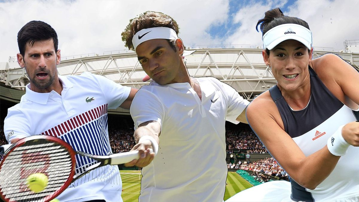 Djokovic, Federer y Muguruza
