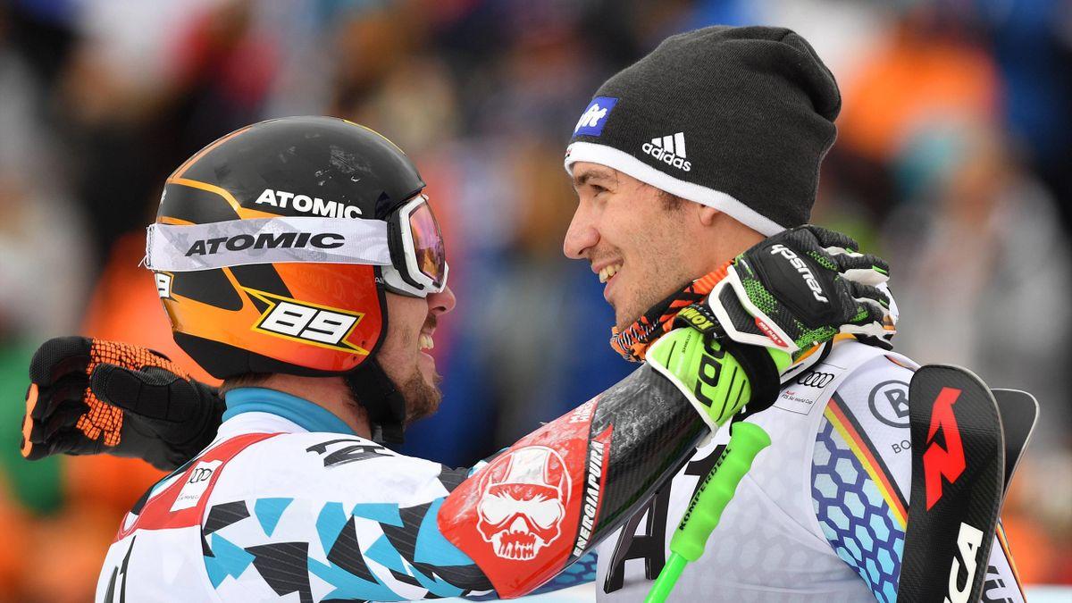 Marcel Hirscher (l.) und Felix Neureuther