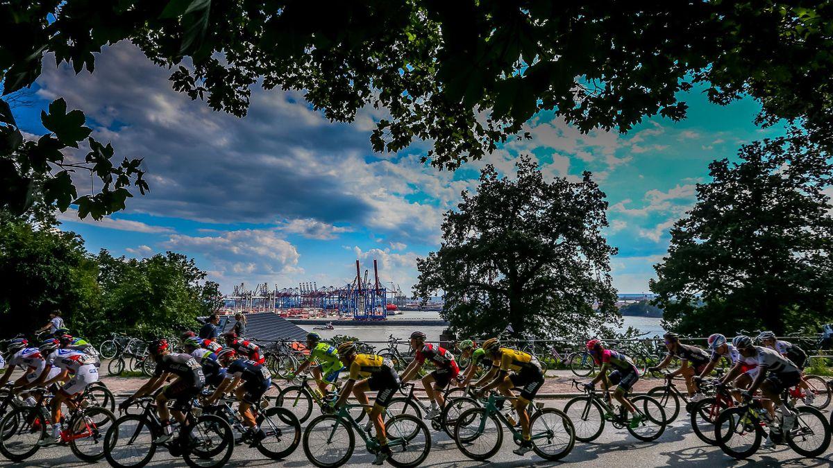 Hamburg Cyclassics: Das Feld unterwegs