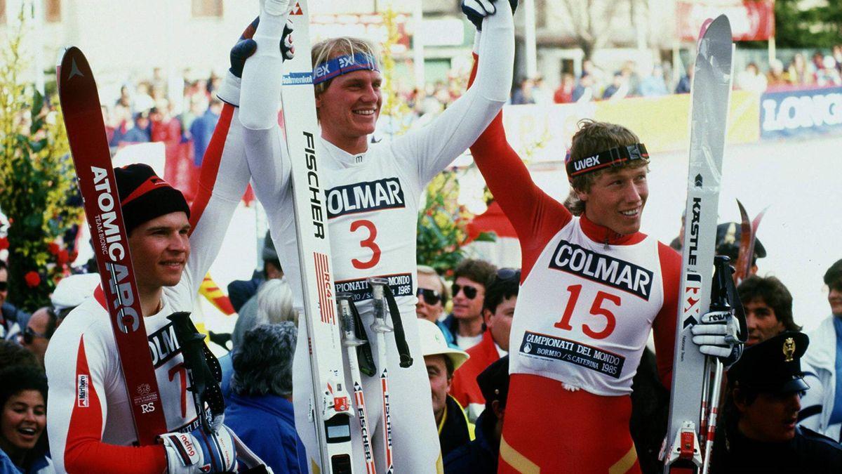 Markus Wasmeier bei der Siegerehrung