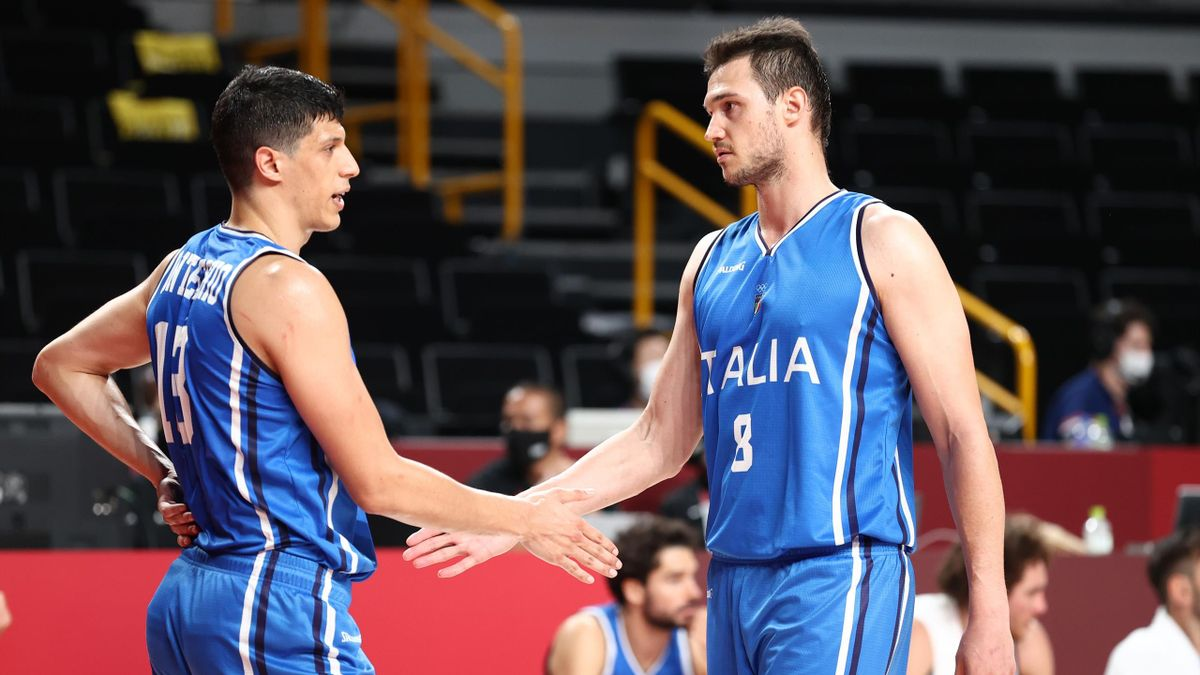 Danilo Gallinari e Simone Fontecchio, Italia, Olimpiadi di Tokyo 2021