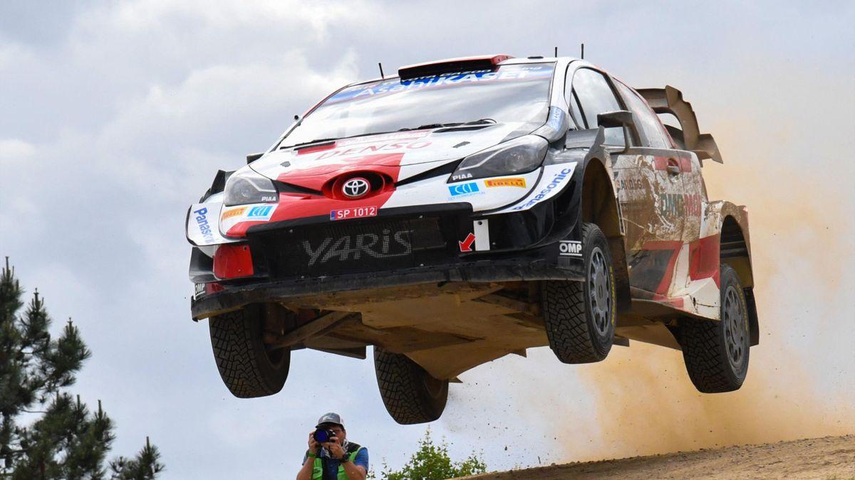 Sébastien Ogier (Toyota) sur le rallye de Sardaigne - WRC